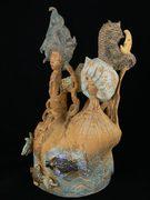 sculpture à trois têtes, Elena Hita Bravo