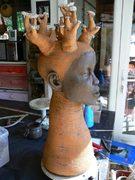 modelage céramique, personnage baobab, Elena Hita Bravo